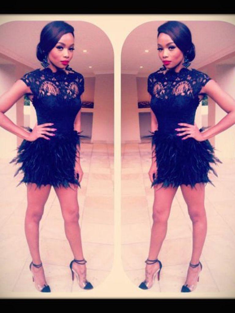 Bonang Matheba Black Dress & Make You Look Like A Princess