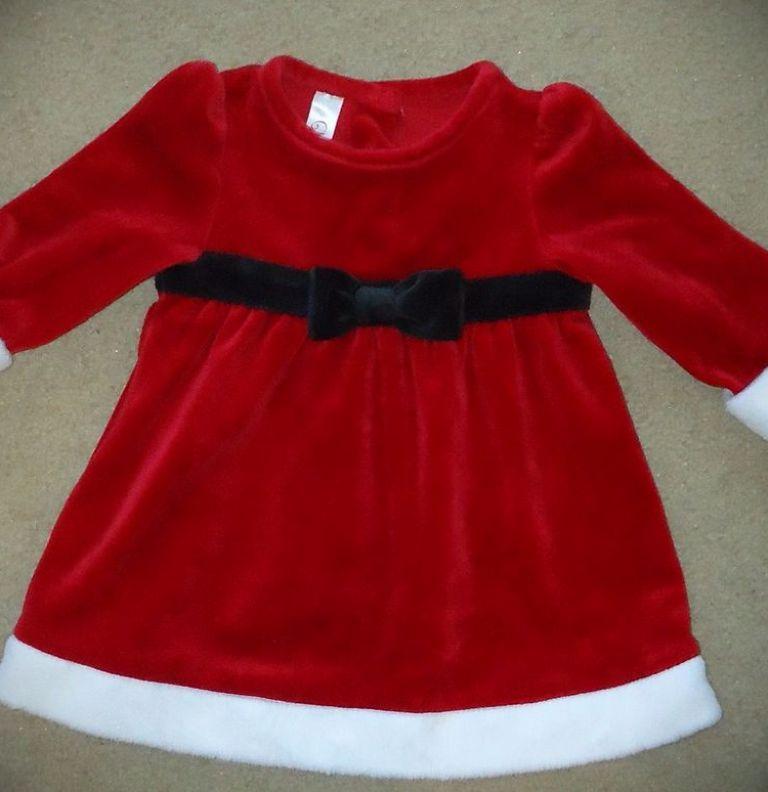 Christmas Dress With Fur Trim