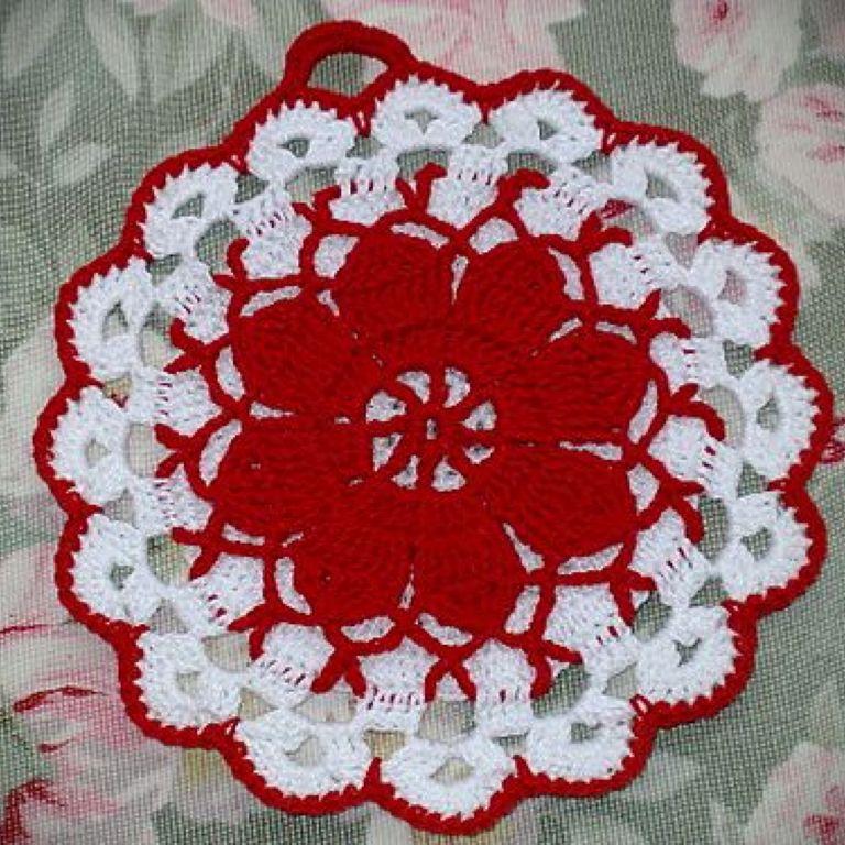Crochet Dress Potholder Pattern Free