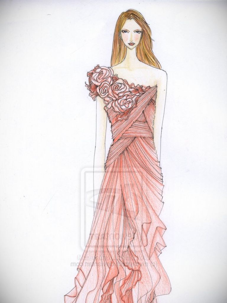 Fashion Dress Sketch Model & Guide Of Selecting