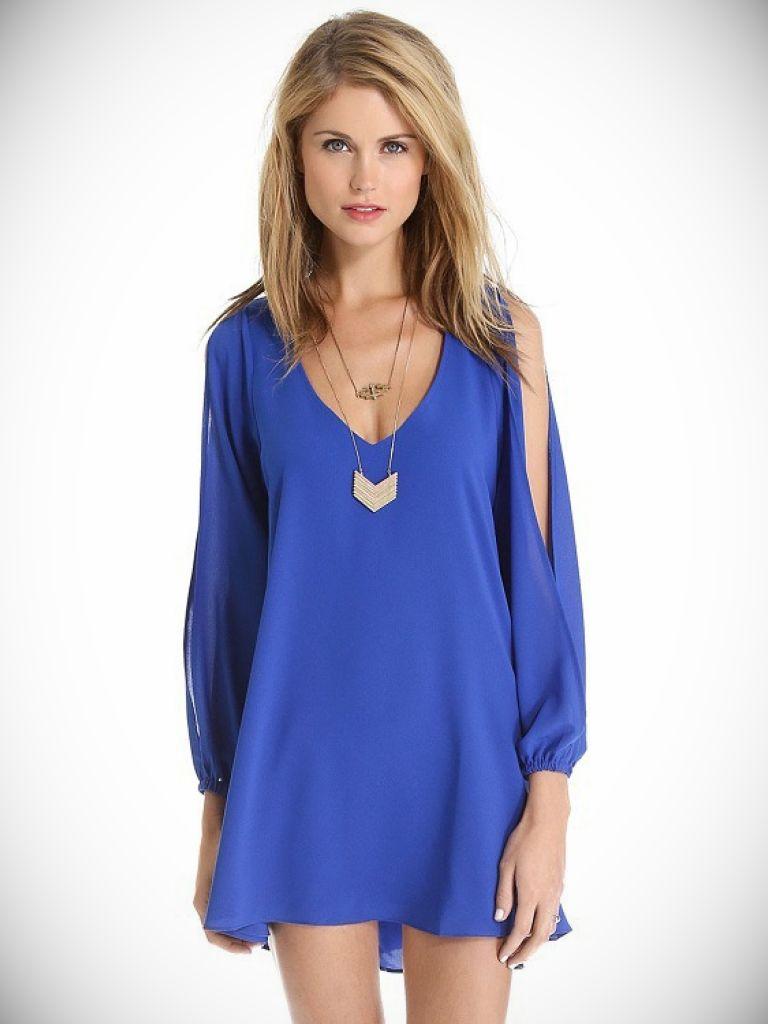 Loose Long Sleeve Shirt Dress