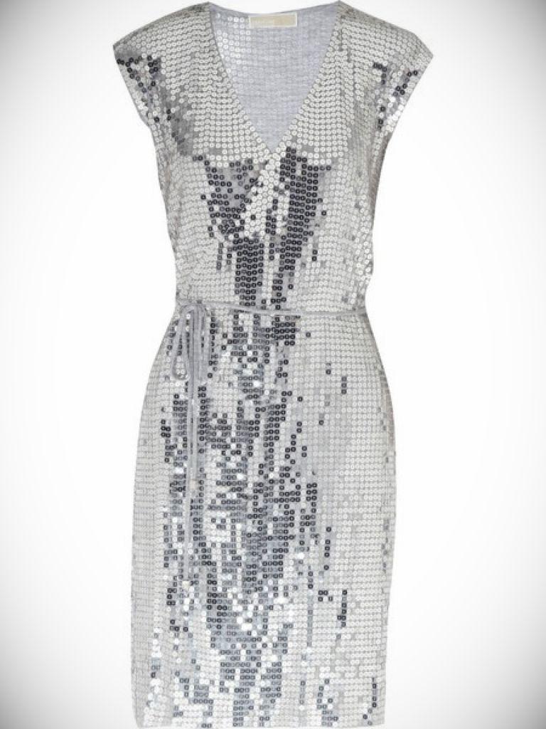 Michael Kors Sequin Wrap Dress