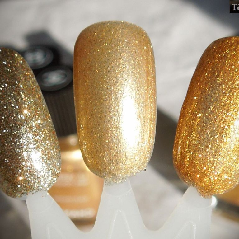 Nail Polish With Gold Dress And Fashion Week Collections