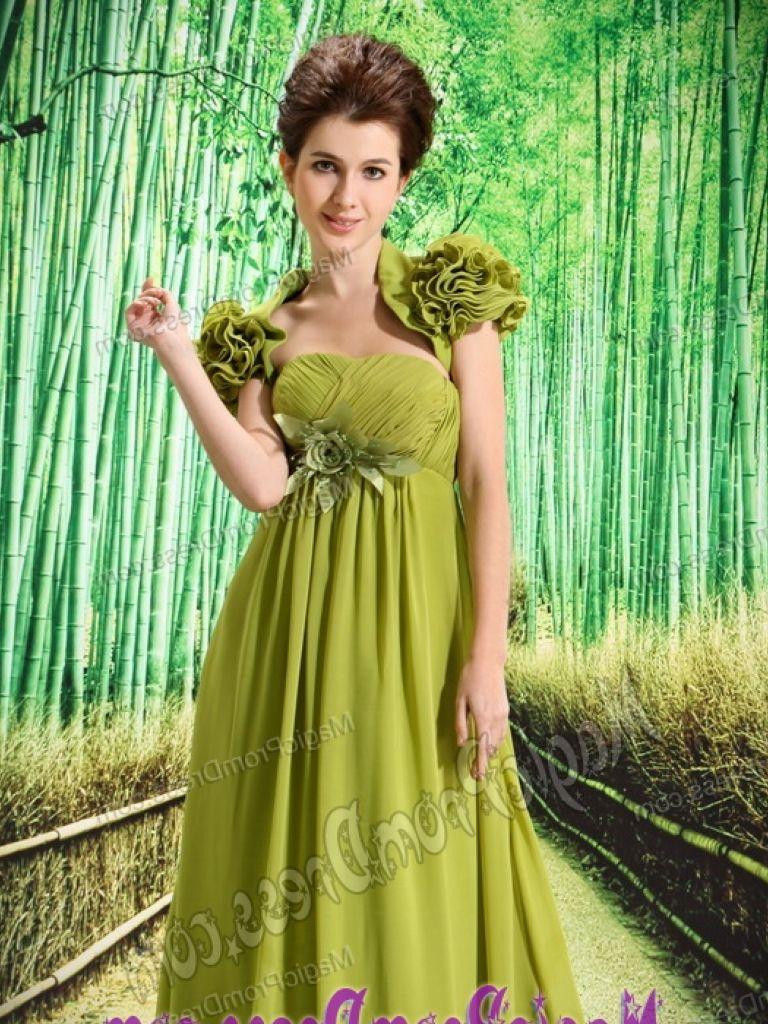 Olive Green Flower Girl Dress