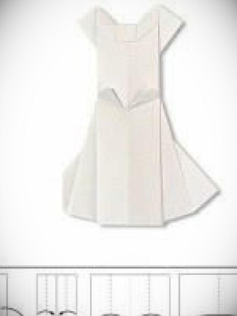 Origami Dress Folding Instructions