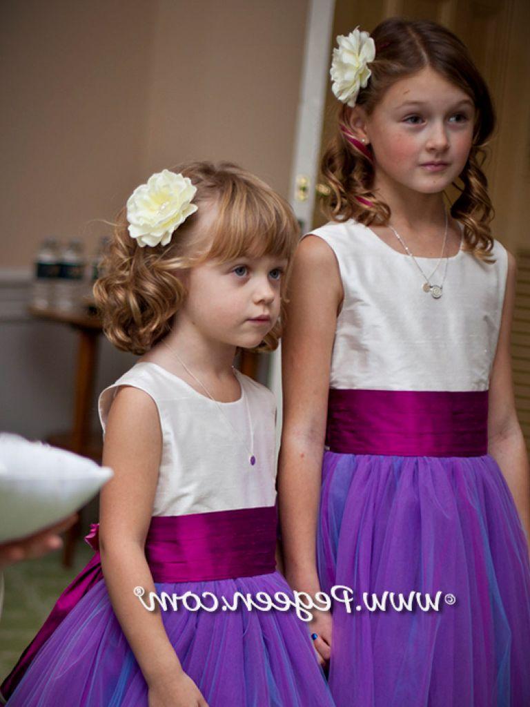 Purple Chiffon Flower Girl Dress