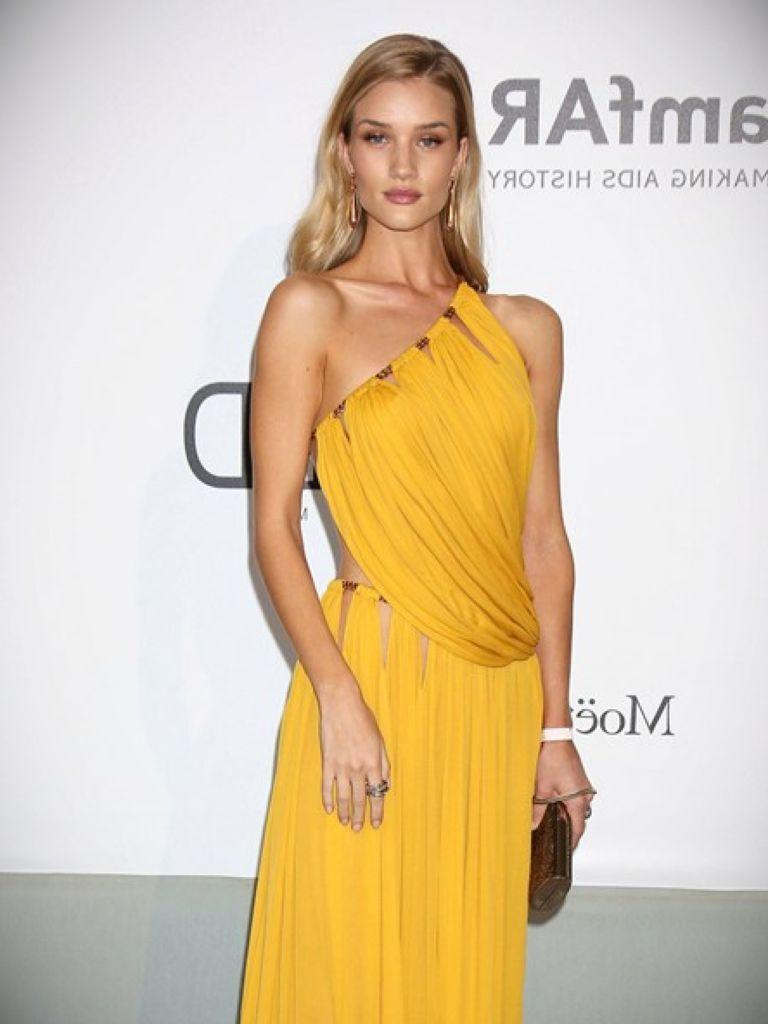 Rosie Huntington Whiteley Yellow Dress