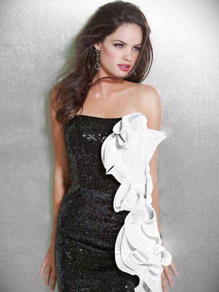 Strapless White Bandage Dress - 24 Dressi
