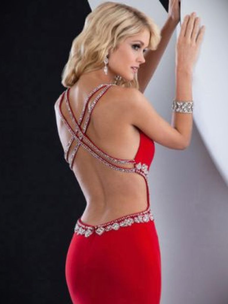 White Low Back Prom Dress And The Trend Of The Year